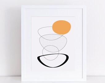 abstract art, egg art, abstract egg art, kitchen art, kitchen print, kitchen printable, egg printable, egg print, abstract print, orange egg
