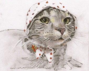 Original Cat Drawing