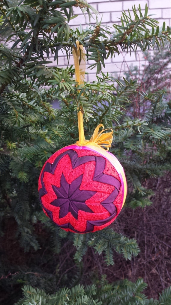 TUTORIAL - Quilted ball PDF file, Easter Ornament Tutorial, Christmas Ornament , Ball Pattern ...