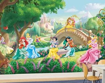 Princess Wall mural, Wallpaper, Wall décor, Nursery and room décor, Wall art