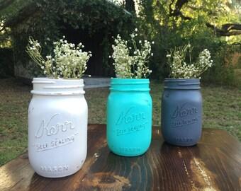 Distressed mason jar set