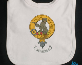 Scottish Clan Crest Baby Bib
