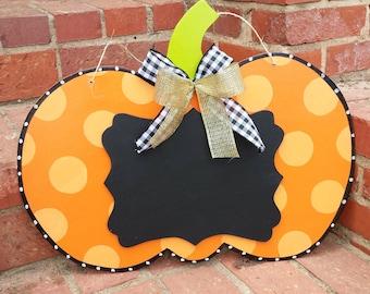 Pumpkin Door Hanger, Halloween Door Hanger, Halloween Wreath, Teachers Door Hanger, Chalkboard