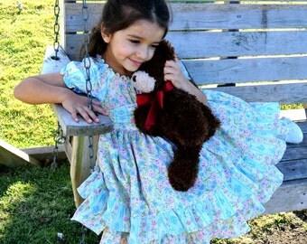 Twirly ruffled peasant dress, size 6-12mo, 18-24mo