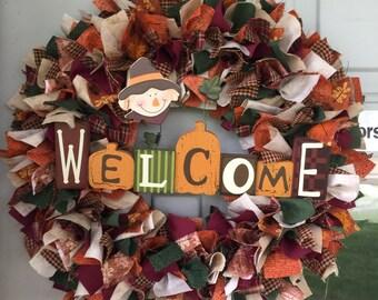Welcome wreath, fall wreath