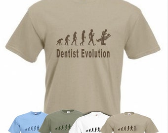 Evolution To Dentist t-shirt Funny Dental Surgeon T-shirt sizes Sm TO 2XXL