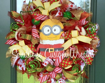 Santa Christmas, Christmas wreath, Santa Wreath, Christmas Santa, Santa Christmas wreath, Holiday wreath, Santa Deco Mesh Wreath