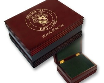 Sigma Nu Engraved Keepsake Box