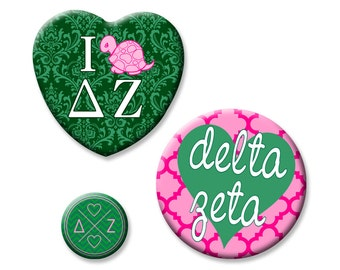 Delta Zeta Button Set