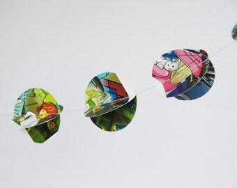 Lego paper garland over 3 yard, comic book garland, book garland, Lego Ninjago