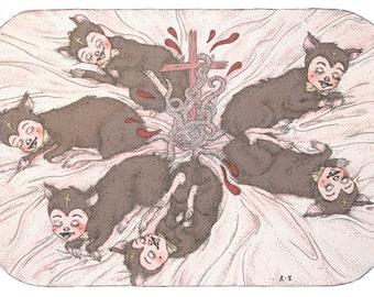 rat king - A4 print (SECOND EDITION)