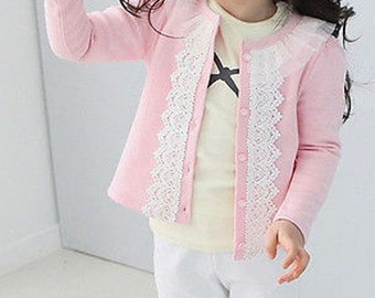 Pink and Lace Cardigan