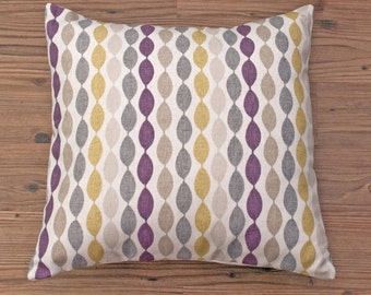 "Geometric Grey Purple and Yellow Modern Decorative Pillow Cushion Cover 16"" / 40cm"