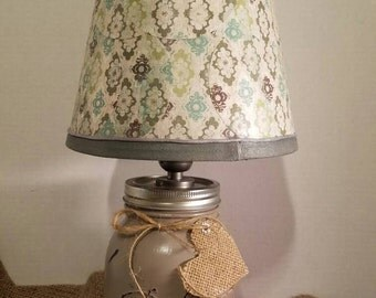 Mason jar lamps, table lamp, accent lamp, home decor, southern decor, country decor rustic lighting, mason jars, gift ideas