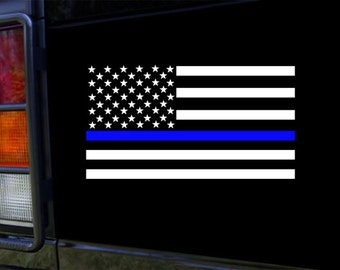 Thin Blue Line Flag Vinyl Sticker Decal for Truck, Car Window and More!