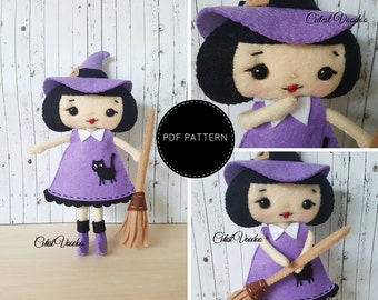 Witch Girl PDF Felt Pattern