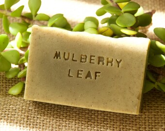 Mulberry leave soap.Cold process handmade soap