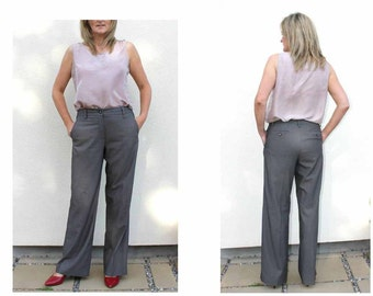Vintage Designer Pants Office trousers Dress code Formal trousers Daily trousers High Waisted pants Womens Trousers Suit pants