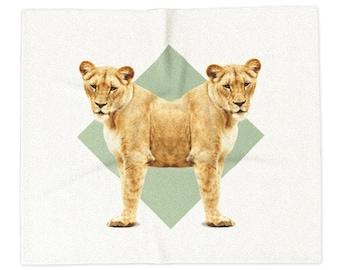 Lionesses Blanket - Double Animals