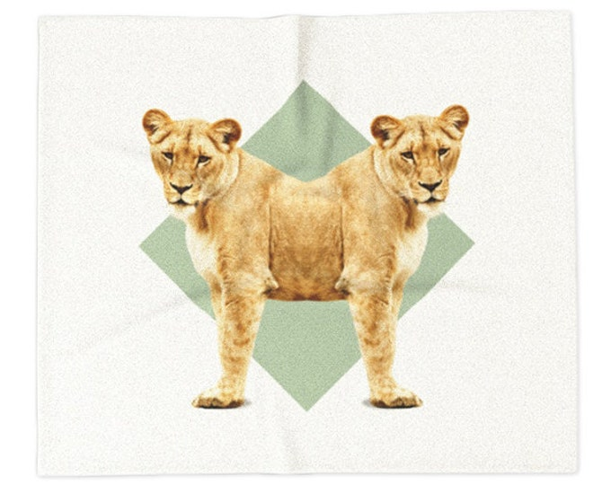 Lionesses Blanket - Double Animals