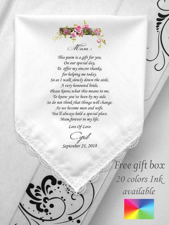Gift For Mom On Wedding Day: Mother Wedding Verses Poem Mother Of Bride Wedding