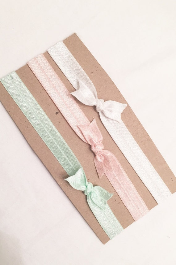Mint & pink knotted headband set//infant headband//toddler headband//mint headband//