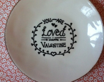 """breakfast plate """"you are loved"""" valentine brunch"""