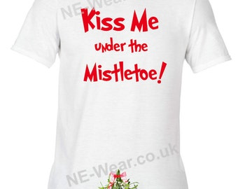 Alternative Christmas Jumper Sweatshirt Kiss me under the Mistletoe rude funny