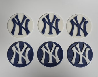 New York Yankees Fondant Cupcake Toppers