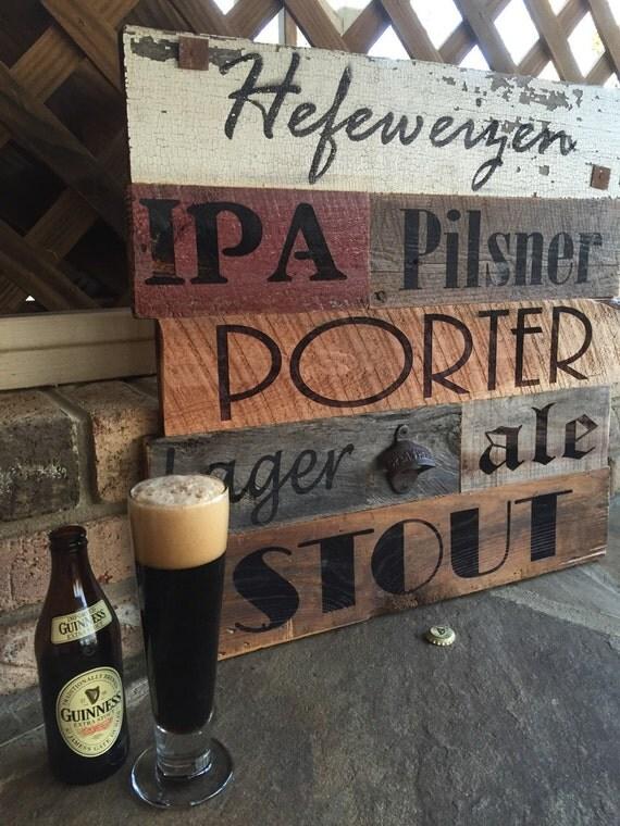 Rustic Reclaimed/Barnwood Beer Sign