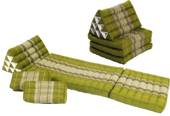 Traditional Thai Pillow : 3 Pcs. Thai Triangle Cushions and Pillows in Thai Traditional