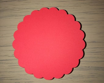 Scalloped Circle Die Cuts Tags Scrapbooking Embellishments Place Cards Cardstock Decorations Paper