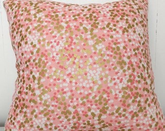 Pink and gold sparkle cushion cover