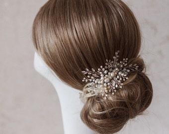 Wedding hair comb Bridal headpiece Pearl hair piece Bridal comb wire Wedding comb Bridal hair comb Wedding hair piece Wedding Hair Clip