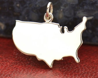 Sterling Silver, United States, Stamping Blank, Stamping Charm, Silver United States, Silver Stamping, America Charm, America Jewelry