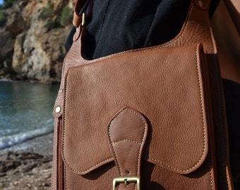 leather utility bag