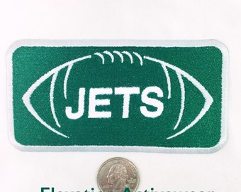 Jets Patch - New York Jets -  Green and White - Embroidered Patch - Jets Iron On -  Jets Appliqué - NFL Football Patch - Jets Football