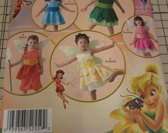 Simplicity, 2559, Toddler, Costume, Disney, Fairy, Tinkerbell, Silvermist, Rosetta, Iridessa, Fawn, Mailed From Canada