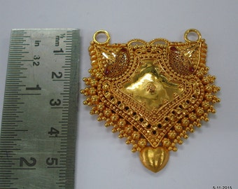 20k gold pendant necklace hanmade gold jewellery vintage tribal jewellery