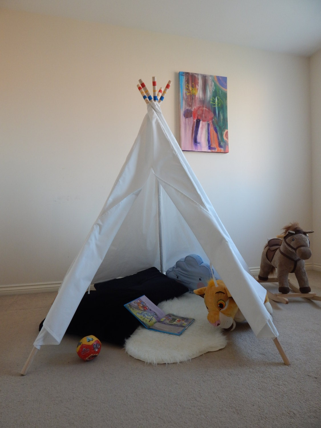 how to make a teepee play tent