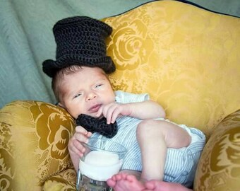 Newborn top hat and bowtie