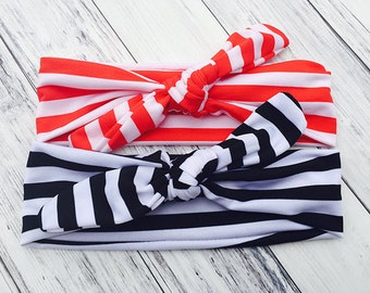 Knot Stripe Headbands - Turban Headbands - Stripe Headbands - Knotted Headbands - Baby Girl Hair Accessories - Toddler Hair Accessories