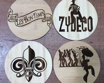New Orleans Themed Coaster Set