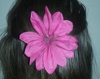 Pink (Magenta) Flower Clip
