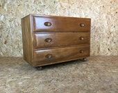 BEING RESTORED Vintage Retro Ercol Chest Set of Three Drawers 60's 70's Teak Mid Century - Bedroom Furniture Solid Elm Blonde Light Finish