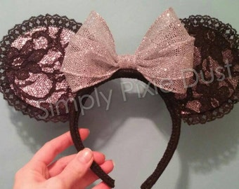 Silver Lace Mouse Ears