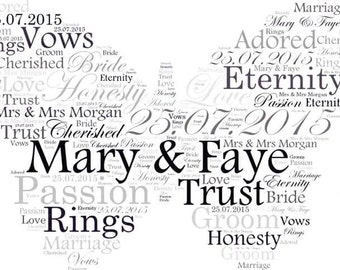 Word art - Wedding, Anniversary