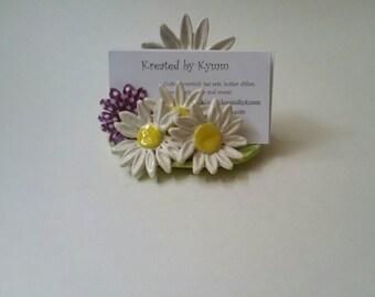 Daisy Business Card Holder, Flower Business Card Holder, Daisies Card Holder, Daisies, Business Card Display, Flowered Business Card Holder