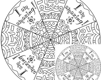 Self Esteem Coloring Printable Coloring Pages