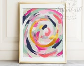 Abstract art PRINTABLE art, Abstract painting, Modern art, Brushstroke art, Glam decor, Pink and gold art, Abstract print , Modern wall art